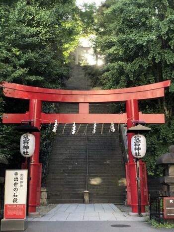 これを目当てに訪れる方も少なくないという、愛宕神社名物の「出世の石段」。これは江戸三代将軍家光公の時代に、この急勾配を馬で登り願をかなえたことから「馬術の名人」と称えられたお話が元となっています。