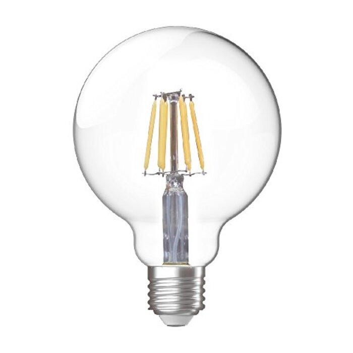 スタイルド LED電球 ボール電球形 口金直径26mm 【60W相当・830ルーメン・全配光・電球色】 フィラメント クリア電球タイプ YDGC60L1