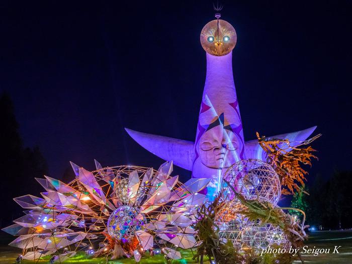 万博イルミナイトは、1970年に開催された日本万国博覧会が開催された跡地に整備された公園、万博記念公園で行われるイルミネーションイベントです。
