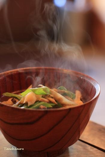 山形名物の芋煮は具沢山で優しいお味!そのほかにも玉こんにゃくなど山形名物が味わえるお店です。