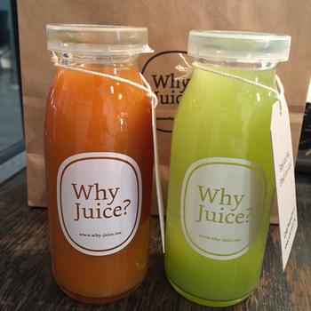 東京都・代官山にあるジュースバー「Why Juice?」。原材料が国産の美味しい野菜とフルーツのみの、「濃厚ストレートジュース」がおすすめです。