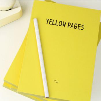 イラストレーターのNoritake(ノリタケ)さんが手掛けた、電話帳のようなデザインのノートブック。中は無地の紙を採用し、電話帳に近い質感にこだわったのだそう。懐かしいあの電話帳をパラパラとめくる感覚を、再び体験してみませんか?