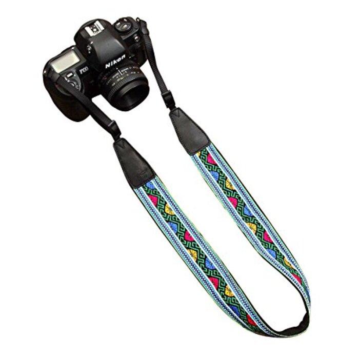 カムイン(cam-in) カメラストラップ  刺繍 シリーズ 汎用型 コットン CAM7435