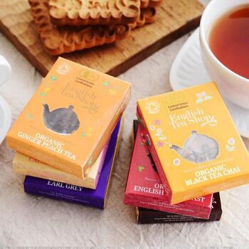 【イングリッシュティーショップ】はイギリスの有名な紅茶メーカー。スリランカの農園で育てた農薬・化学肥料不使用のオーガニックティーは、日本でも愛されています。