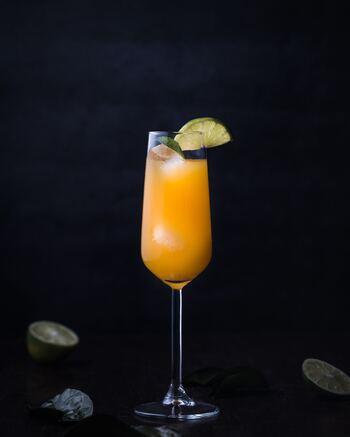 昔、ねじ回しでウォッカとオレンジジュースを混ぜて飲んだことからその名がつけられた「スクリュー・ドライバー」。まるでオレンジジュースを飲んでいるような、アルコールを感じさせないカクテルなので飲みすぎに注意が必要。 【材料】 ウォッカ:適量 オレンジジュース:適量 氷:適量  【作り方】 ①グラスに氷を入れます ②ウォッカ・オレンジジュースを注ぎます