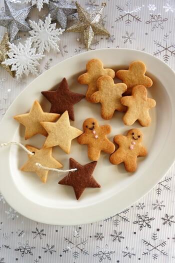 クッキーを焼く前に穴を開けておけば、美味しくて可愛いオーナメントに変身!