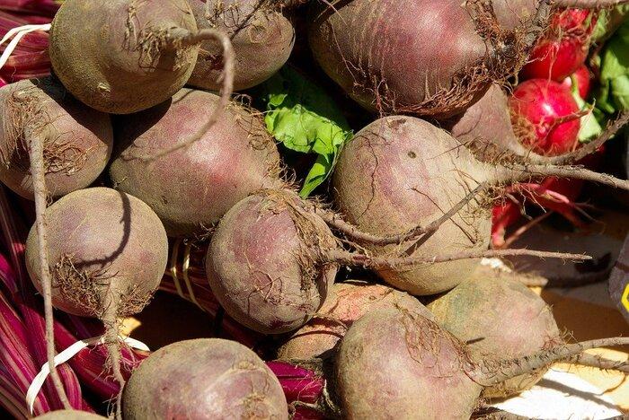 カブに似た見た目で、「食べる輸血」と言われるほど栄養豊富な野菜・ビーツ。ロシア料理のボルシチに使われるだけに寒い場所でも育ちます。旬は年に2回あって、5~7月と11月~12月です。珍しい野菜ではありますが栽培はそこまで難しくありません。スープに入れれば美しいピンク色になりますし、生のままサラダに使っても。