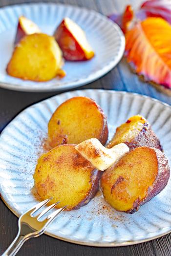 焼き芋が簡単にスイートポテト風に。シナモン&バターの風味で食べ出したら止まりません!