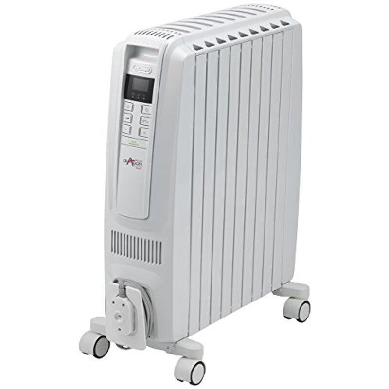デロンギ(DeLonghi) オイルヒーター ピュアホワイト + ホワイト X字型フィン9枚 [10~13畳用] ドラゴンデジタル スマート QSD0915-WH