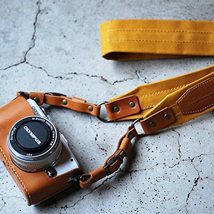 (ロベル)ROBERU 帆布カメラストラップ 6colors カメラストラップ ブラック