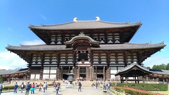 大仏様で有名な東大寺。元旦の0時から朝8時までは、大仏殿正面の窓が開かれ、大仏様の顔を外から拝むことができます。ご利益は、無病息災、一家安泰です。