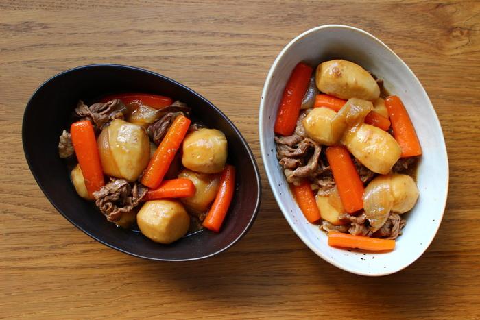 丸ごと使っているので、里芋好きにはたまらない一品ですね。他の食材も大きめにカットして、見た目もボリュームアップ!甘じょっぱいタレがよく絡まって、ご飯も進みます◎