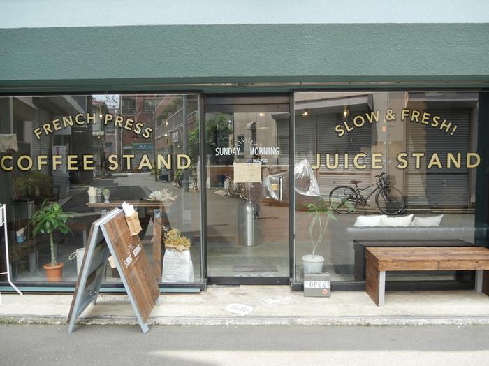 都営三田線の志村坂上駅から徒歩約2分のところにあるカフェ「SUNDAY MORNING coffeestand」は、こんなところにこんなおしゃれなカフェが!という知る人ぞ知るおしゃれな穴場カフェスポットです*