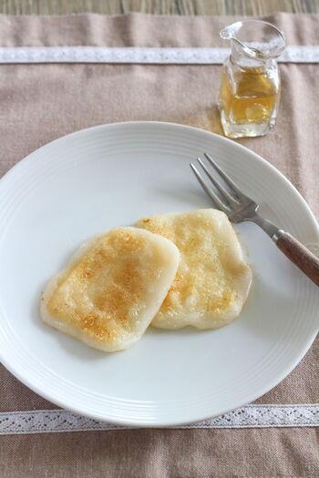 バター×白だしの意外な組み合わせが、こっくり優しい味わいの朝ごはんにピッタリのお餅に。濃すぎない味付けが、食欲がない日にも◎。