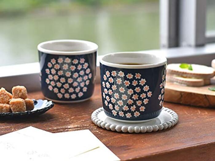 marimekko マリメッコ PUKETTI プケッティ ネイビー ラテマグ 2個セット ペア マグ マグカップ コーヒーカップ 北欧 北欧食器