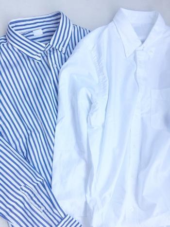 ワイシャツなど、ボタンの糸が緩んだまま洗ってしまうと取れた時に探すのが大変……!少し手間ですが、洗濯機に入れる前に取れかかっている箇所がないか確認してみて。