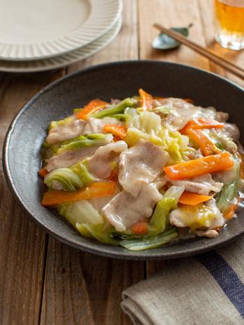 フライパンで手軽に作れる和風のとろみおかず。味付けは白だしでお手軽に。