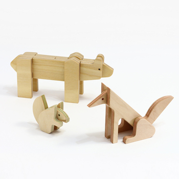 愛くるしい動物の姿は、パズルとしてだけでなく、リビングの飾り棚などに並べるオブジェにしても素敵。