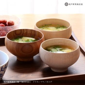 日本の冬のあったかメニューといえば汁もの。MATEVARIは「マテリアルバリエーション」の略。欅、桜、楓など、五種類の材料で、オリジナルの木目を楽しむことができます。