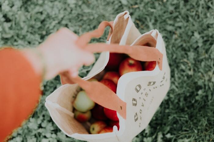 お気に入りのエコバックを1つ見つけてみてください。愛着が持てるバックを手に、買い物へ。「袋は入りません!持っていますから」と堂々と言える毎日が続けば、ゴミも減り気持ちもスッキリしてくるはず。