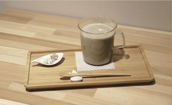 そしてこちらがほうじ茶ラテ。コクのある濃厚な味わいを楽しむことができます。ほうじ茶の魅力にたっぷり浸れる一杯です◎