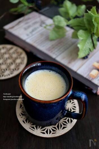 甘酒に卵黄を加えた「たまご甘酒」も、寒い冬の時季におすすめの一品です。甘酒と卵を組み合わせたホットドリンクは、栄養満点で風邪予防にも◎。体の芯からじんわりと温まります。