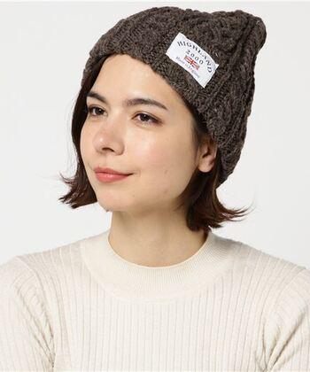 そんなニット帽を選ぶなら「HIGHLAND」がおすすめ◎質の高いウールを贅沢に使い、ボリューム感と耳まで被れる程よい深さがポイント♡色のバリエーションも豊富なので、お好きな色を選べるのもいいですよね♪