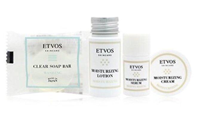 ETVOS(エトヴォス) モイスチャーライントラベルセット 2週間お試し [洗顔石鹸 化粧水 美容液 保湿クリーム] フェイスケアセット スキンケア トライアル パラベン 無添加