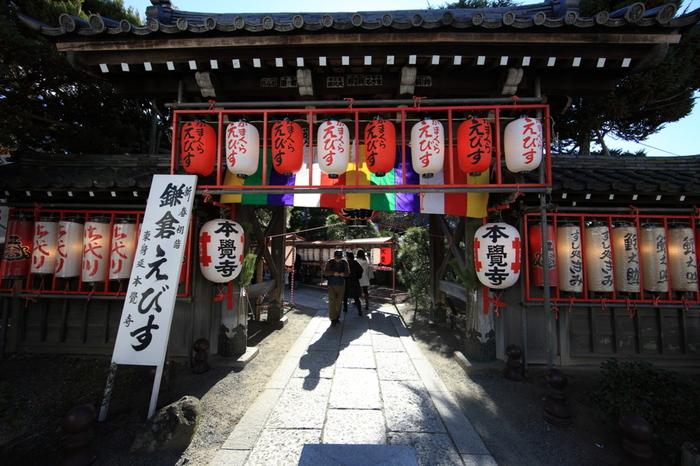 他のお寺とあわせて立ち寄ることをおすすめしたいのが、「本覚寺(ほんがくじ)」。鎌倉駅東口から徒歩約5分ほどのところにあり、拝観料無料なので、気軽に訪れやすいですね。