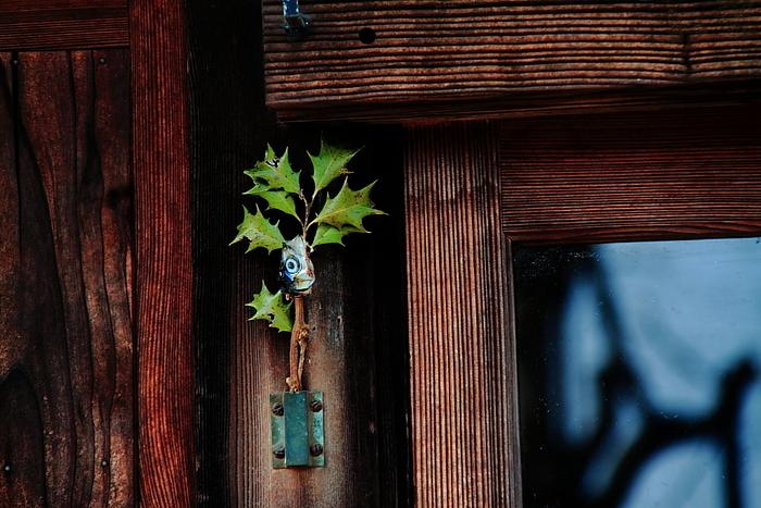 節分の飾りといえば柊鰯。柊の小枝に焼いた鰯の頭を刺したものを、玄関先に飾って鬼を追い払う風習です。柊のトゲと鰯の生臭いニオイは鬼が苦手なものなので、魔除けの意味があります。古くは平安時代から伝わる風習なんだそう。