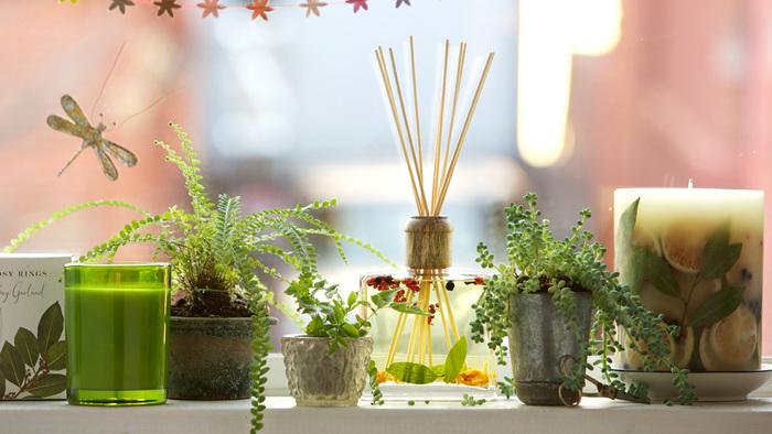 全9種類のこのロージーリングスのフレグランスは、香りによっても中に入っている草花が変わり、見た目からも香りがイメージできるようになっています*とてもおしゃれなので、つい飾りたくなるフレグランスですね♪