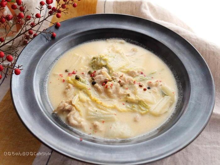 クリームソースだけでなく、クリームシチューにしても。スープに近いさらっとしたとろみと、あっさり優しい味に仕上がります。チーズを少し加えると、コクととろみが出て美味しいですよ。