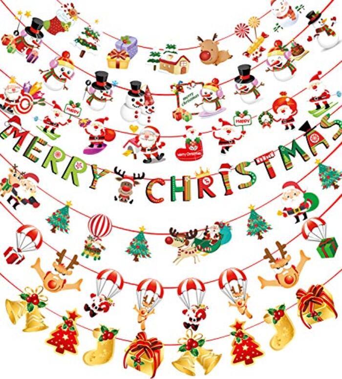 クリスマスガーランド クリスマス飾り 7本セット