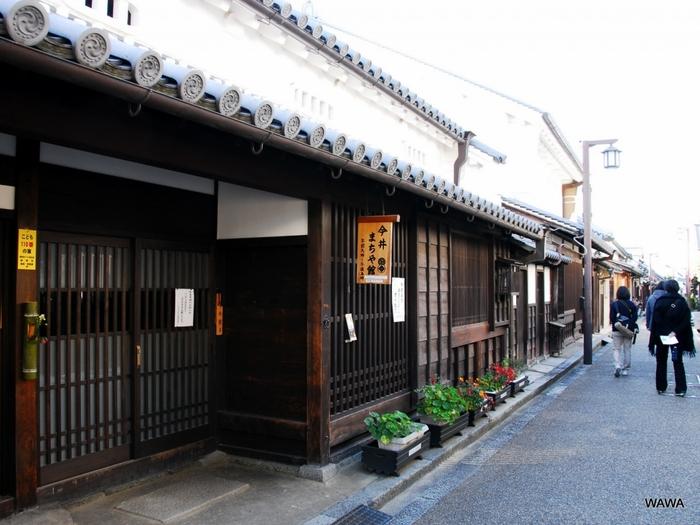 今井町の本町筋にある今井まちや館は、18世紀初期頃に造られた町屋家屋です。ここは、江戸時代には金物屋又兵衛、明治時代には寺田又三郎の所有となりましたが、現在は無料で一般開放されています。
