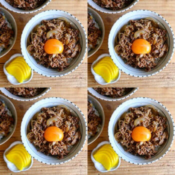 保存袋を使えば、ご飯を炊きながら一緒に牛丼も作れるんです!洗い物も少なくすんでいいこと尽くしですね。これは試さない手はありません◎