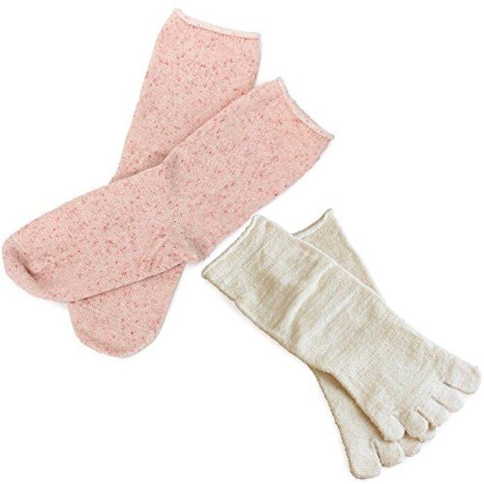 hiorie(ヒオリエ) 日本製 冷えとり靴下 内絹外綿ソックス