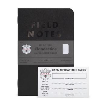 フィールドノートでは定番ノート以外に、限定タイプがたくさん出ています。 デザイン性のある表紙や趣味に特化した表紙など、種類が豊富で、売り切れてしまうことも多いようです。  こちらは「秘密」という名のノート。 管理が大変なパスワードや資産の記録など、自分だけがわかる謎解き方式で管理できるユニークなノートです。