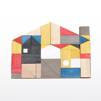 「miller goodman(ミラーグッドマン)」は、2008年にイギリスで誕生した玩具ブランド。鮮やかな色合いと模様が付いたゴムの木のブロックは、どこかモダンでスタイリッシュですね。