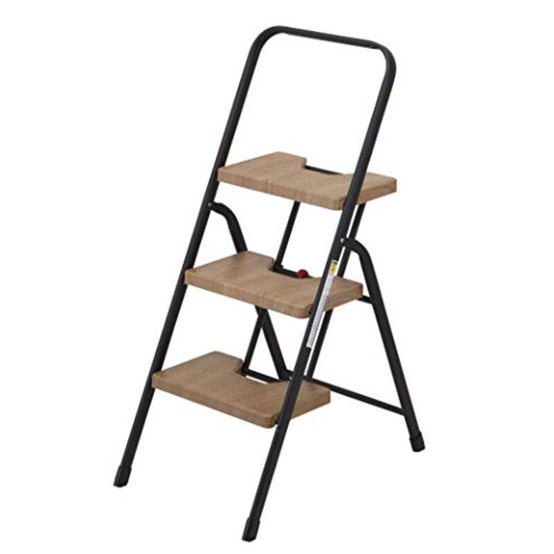 シービージャパン 脚立 踏み台 木目調 折りたたみ 3段 フォールディング ステップ 耐荷重100kg 室内外用 folding step