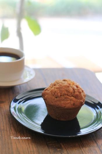 イートインでは、マフィンと一緒にスペシャルティーコーヒーがおすすめです。芳醇な香りとコクをおいしいマフィンと楽しんでみてください。