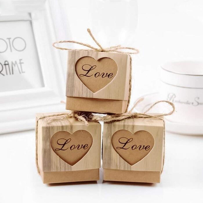 50個入り キャンディボックス ギフトボックス 紙袋 ボックス お菓子箱 包装箱 パーティー 結婚式 誕生日用ボクス お祝い 贈り物 お菓子ボックス 店舗装飾 包装&DIY用