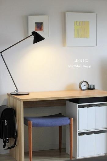 家具をむやみに増やさず、シンプルに暮らしたい方にオススメ。ついついごちゃつきがちな子供部屋も、置くものを厳選してスッキリ。
