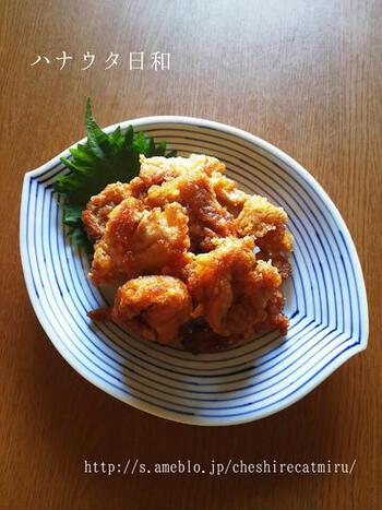 車麩を鶏肉の唐揚げみたいに揚げてみたら、外はカリカリ中はふわふわの食感で美味しく仕上がりました。ヴィーガンの方にもおすすめです。
