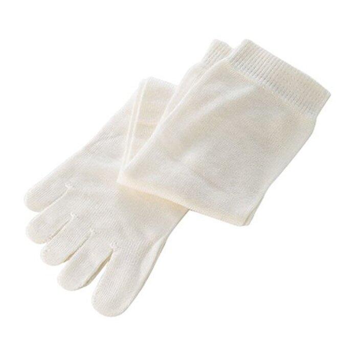 くらしきぬの冷えとり靴下【日本製/絹(シルク)100% 5本指ソックス/丈長】
