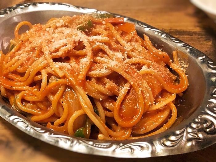 おすすめメニューは、横浜名物でもあるナポリタン。食べ応え100点満点のナポリタンは一度食べると癖になってしまいます。