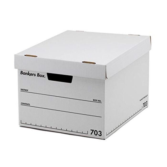 フェローズ バンカーズボックス A4サイズ 黒 3枚1セット 収納ボックス ふた付き