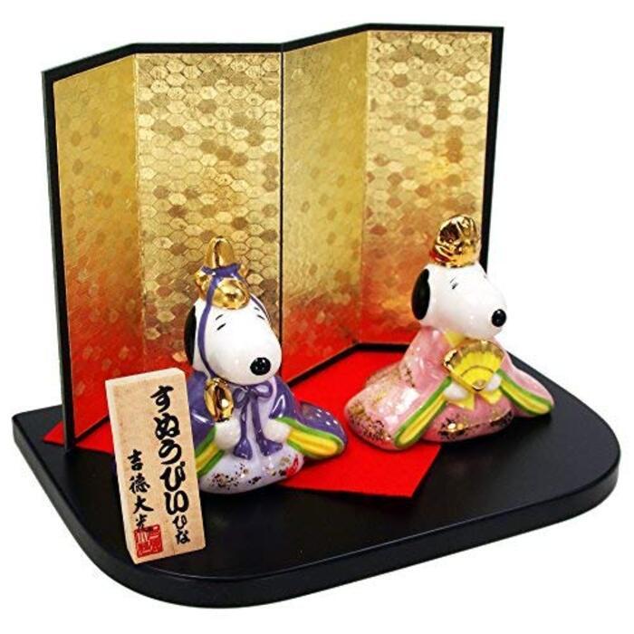 スヌーピー&ベル 陶器 雛人形 ひな人形 水琴鈴特典付オリジナル雛人形