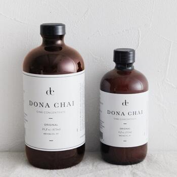 フレッシュなジンジャーと厳選したスパイスが絶妙なバランスで調合されたDONA CHAIのチャイシロップは、添加物は一切使われておらず、体に優しい素材で作られています。