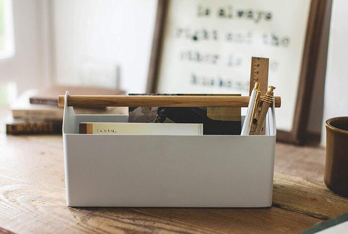 山崎実業(Yamazaki) 収納ボックス ホワイト