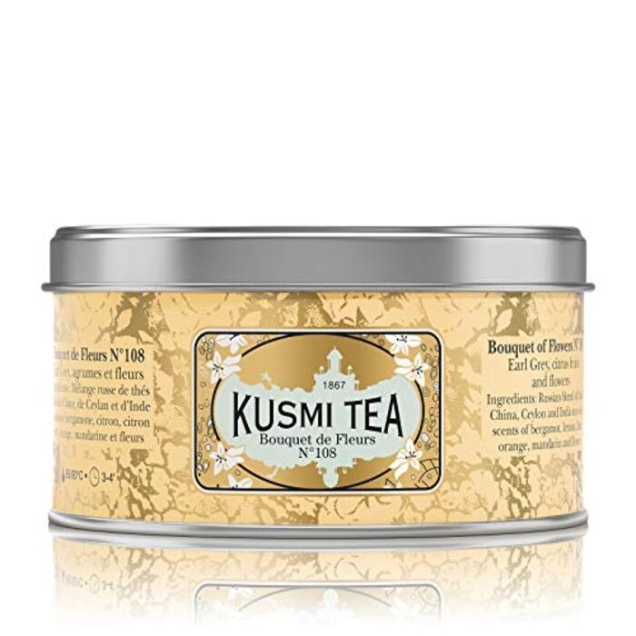 (KUSMI TEA) クスミティー ブーケ オブ フラワー No.108 125g缶 [正規輸入品]